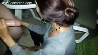 Milf blows young dick