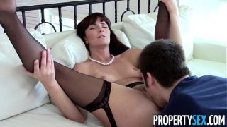 PropertySex – Sexy MILF agent makes dirty homemade sex video with client