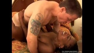 Sexy black MILF Cat gets fucked by a lucky white guy